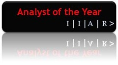 IIAR Analyst of the Year logo